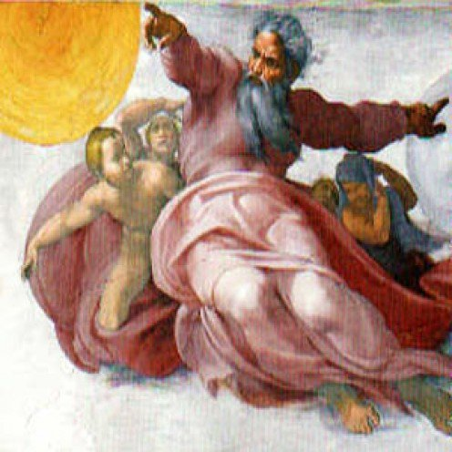 """Creation of the Stars and Planets"" by Michaelangelo at the Sistine Chapel"