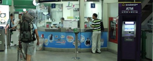 A BTS station booth - All attendants are able to speak English