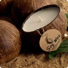Coconut Shell Soy Candles