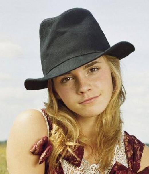 Sexy Emma Watson in a Hat