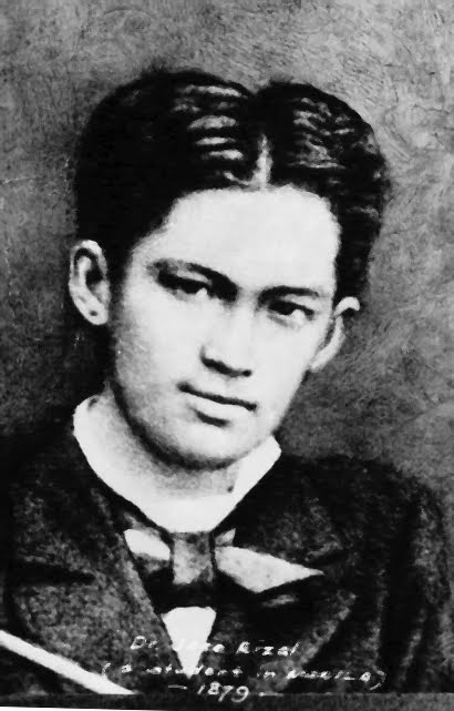 18 year old, Jose Rizal. He died a martyr's death at the young age of 35.