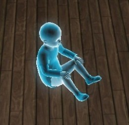 A ghost toddler Sim
