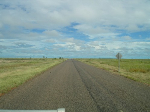 Not much to see on the road to Karumba - except birds of every variety.