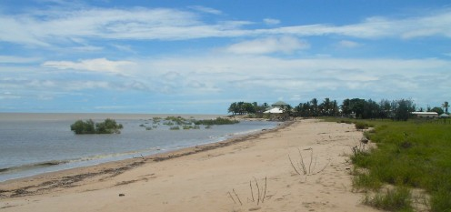 Beach near the Sunset Tavern - That is the Arafura Sea out there (The Gulf of Carpentaria)