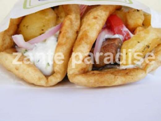 Greek pitta parcel