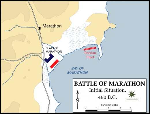 Battle of Marathon, 490 BC - Initial situation