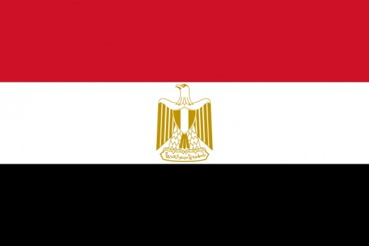 The Egyptian flag.