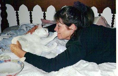 During the first weeks of convalescence...to this day, she still touches my face every night when we go to sleep