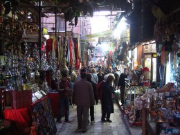 A buy marketplace in the city of Cairo.