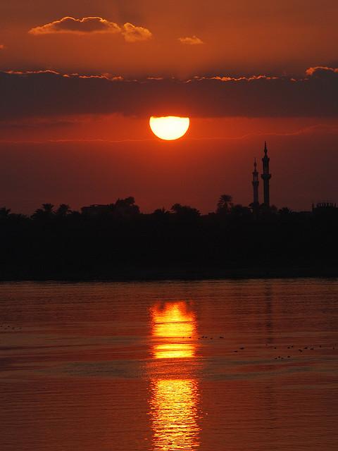 Beautiful sunset at River Nile.