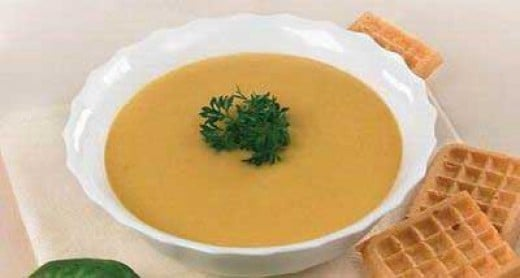 Carrot Soup with Parsley Garnish. Parsley is great of you have no chives. Chopped scallions can also be used.