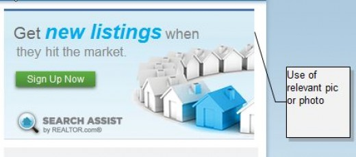 Sample of Relevant Picture on Real Estate Ad