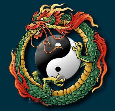 This is a more typical representation of an ouroboro, which symbolizes eternal return.