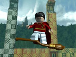 Harry showing off on a broom!