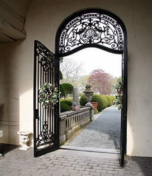 Doorway to Belcourt Castle