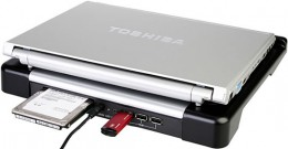 Laptop Cooler with USB Hub and HDD Slot