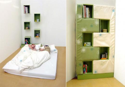 Book case bed (Image credit: Freshome.com)
