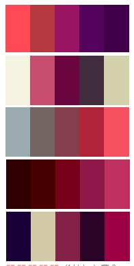 'Oriental Sweetness' Colour Palette