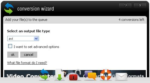 Select the avi video file format for output
