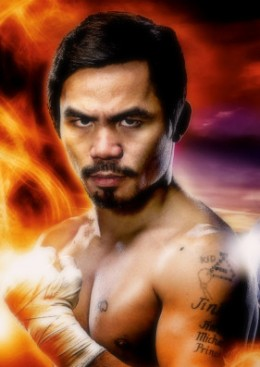 The iconic Manny Pacquiao.