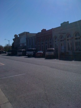 The other end of the street - Hutto.