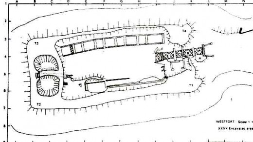 "Site plan of Fort Daspoortrand by Anton C. Vollenhoven. From  ""The Military Fortifications of Pretoria 1880 - 1902"""