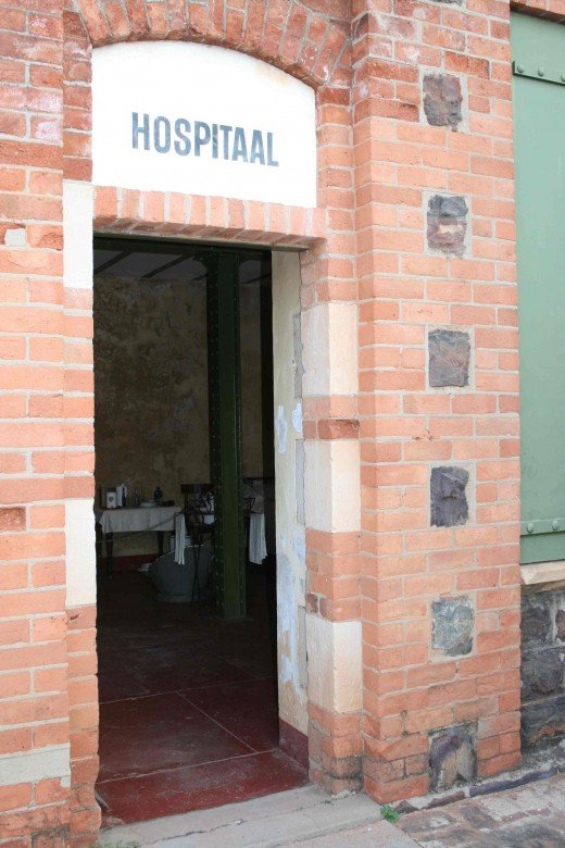 "The entrance to the ""hospital"""