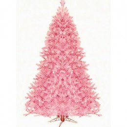 7.5' Pre-Lit Pretty In Pink Artificial Christmas Tree - Pink Lights