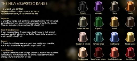 New Nespresso Flavors Range