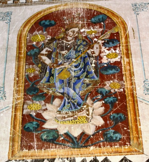 Fresco at Brindavanchandra temple 1