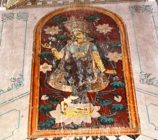 Fresco at Brindavanchandra temple 2