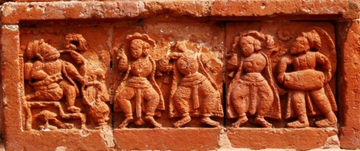 Dancers in Terracotta, Ramchandra temple