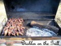 Grilled Diablos -- Delicious Jalepenos with cheese, shrimp and bacon!