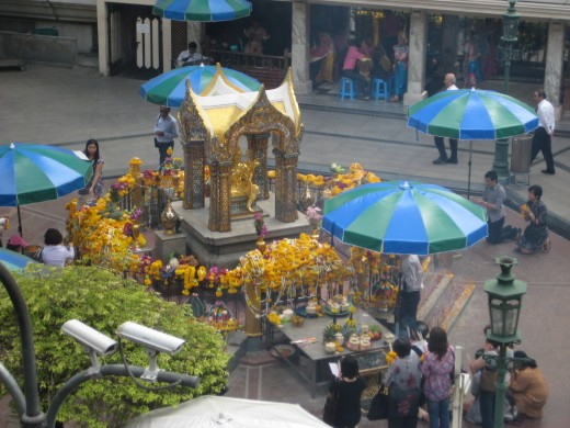 Always popular Erawan Shrine - Right next to Erawan Hotel and shopping arcade