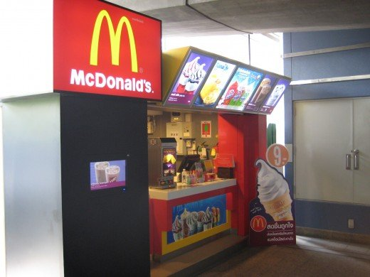 McDonald's in Chit Lom BTS station