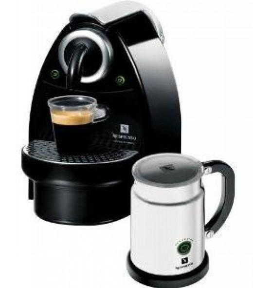 Nespresso Essenza C100 Espresso Maker and Aeroccino Automatic Milk Frother