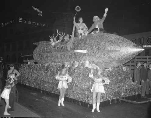 Visions of the future in the 1940 Los Angeles Christmas Parade.