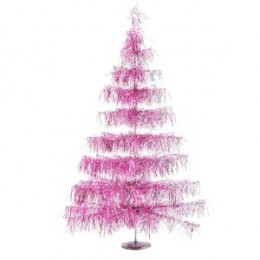 Kurt Adler Shaggy Pink Christmas Tree