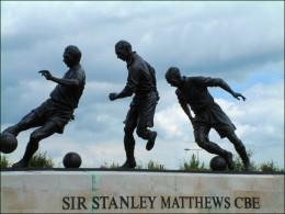 Sir Stanley Matthews statue at the Britannia stadium
