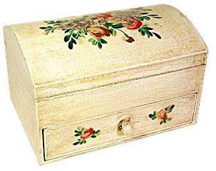 Italian Floral Jewelry Box