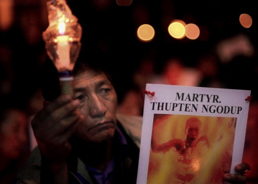 Thupten Ngodup is Tibetan patriot who set himself on fire in 1998 in Dharamsala in India, as a way of protest against Chinese invasion of China.