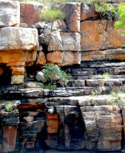 Scultural landscape with desert pallette (Nitmuluk Gorge NT)
