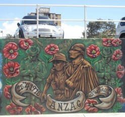 Anzac Memorial on the promenade at Bondi