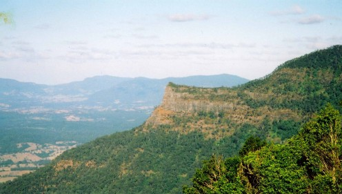 Inner walls of the caldera