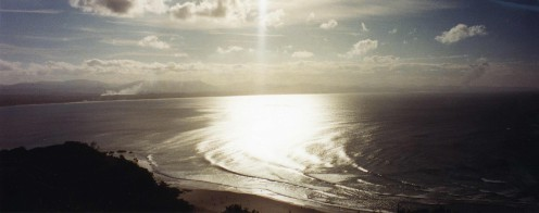 From Cape Byron, looking west over the Bay, into the vast reaches of a continent.