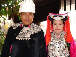 Pi Ouan with his sister Ging Kaew