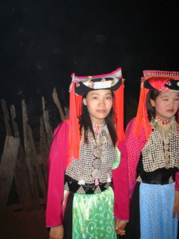 Lisu girls on New Year's