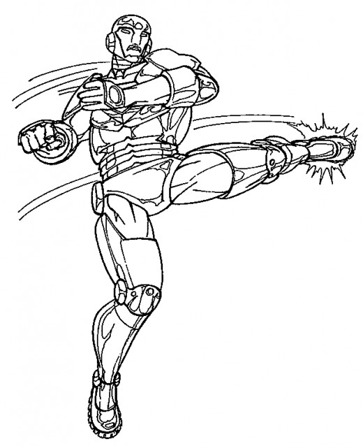 Ironman coloring pictures - Iron man coloring sheets for kids to print and color