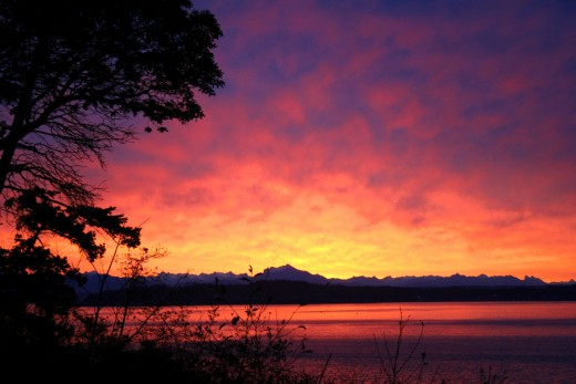 Gorgeous colorful early sunrise in Oak Harbor - one of God's masterpieces!