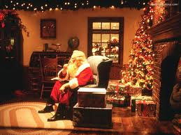 Santa in thought as to what present he should leave.